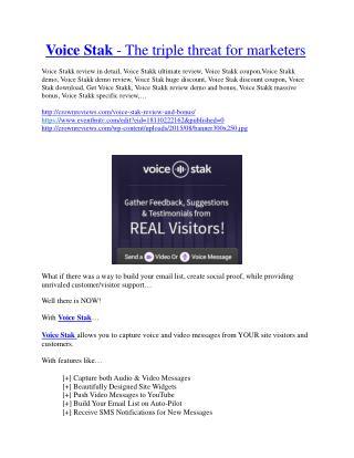 Voice Stakk review-Voice Stakk $27,300 bonus & discount