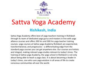 Yoga Teachers Training in Rishikesh