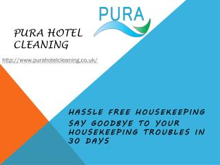 Hotel contract cleaning Company UK