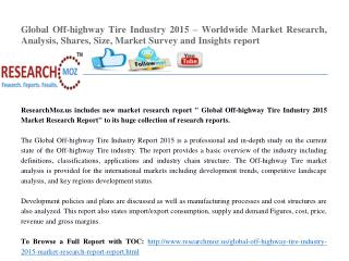 Global Off-highway Tire Industry 2015 Market Research Report