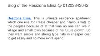 Blog of the Resizone Elina