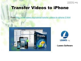 Transfer Videos to iPhone