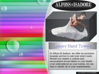 Luxury Hand Towels - Alfons & Isadore