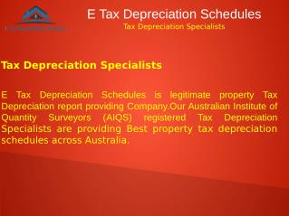 Tax Depreciation Specialists