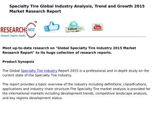 Global Specialty Tire Industry 2015 Market Research Report
