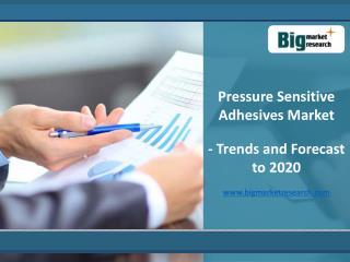 Pressure Sensitive Adhesives Market - Trends and Forecasts to 2020