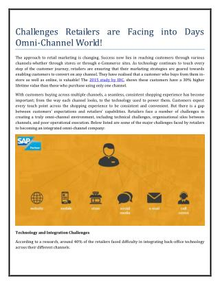Challenges Retailers are Facing into Days Omni-Channel World!