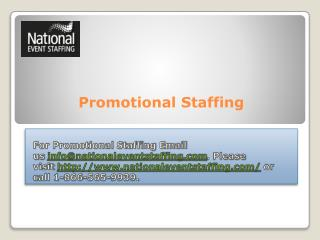 Promotional Staffing