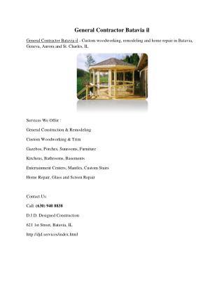 General Contractor Batavia il