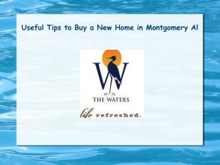 Useful Tips to Buy a New Home in Montgomery Al