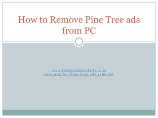 How to Block Pine Tree ads from PC