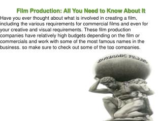 Armandgazarian - Film Production: All You Need to Know About It