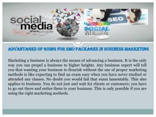 Choose Best SMO Packages for Your Business Marketing