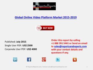 Global Online Video Platform Market Trends, Challenges Report