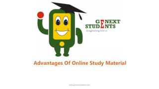 Advantages Of Online Study Material