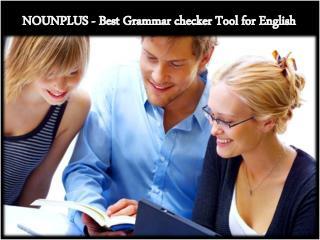 NOUNPLUS - Best Grammar checker Tool for English