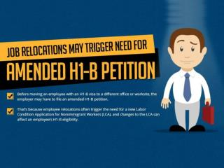 Job Relocations May Trigger Need for Amended H1-B Petition