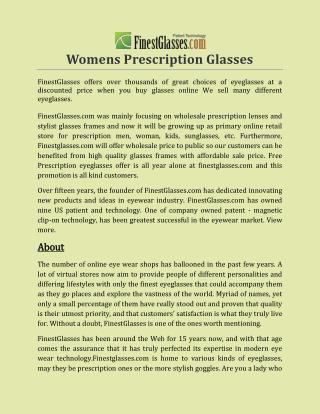 Womens Prescription Glasses