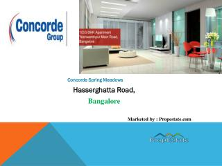 Concorde Spring Meadows |8147203771| New Launch Bangalore