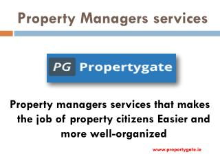 Property Managers Services - Propertygate