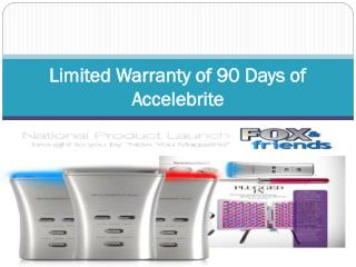 Limited Warranty of 90 Days of Accelebrite