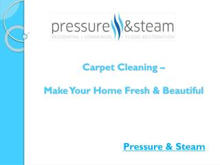 Carpet Cleaning – Make Your Home Fresh & Beautiful