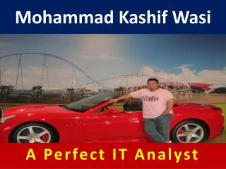 Mohammad Kashif Wasi - Perfect IT Analyst