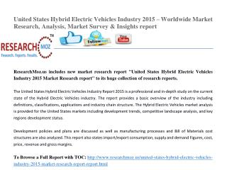 United States Hybrid Electric Vehicles Industry 2015 Market Research Report