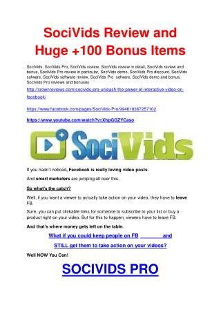 SociVids Pro  Review & GIANT bonus packs