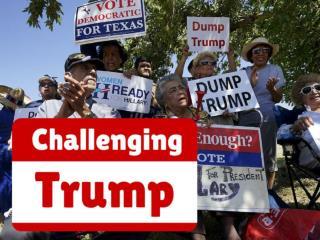 Challenging Trump