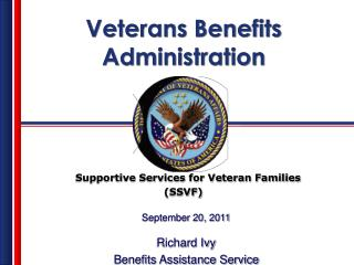 Supportive Services for Veteran Families                                                 SSVF