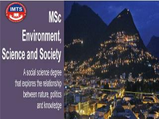 Admission MSc Environmental Science distance education courses