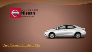 New and Used Toyotas cars in Elizabeth City