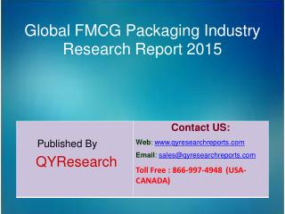 Global FMCG Packaging Market 2015 Industry Analysis, Forecast, Research, Growth, Trends, and Share