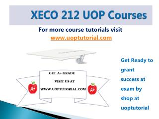 XECO 212 UOP Tutorial Course/Uoptutorial