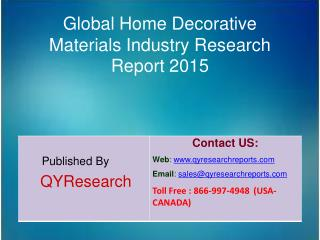 Global Home Decorative Materials Market 2015 Industry Trends, Share, Analysis, Forecast, Growth, and Research
