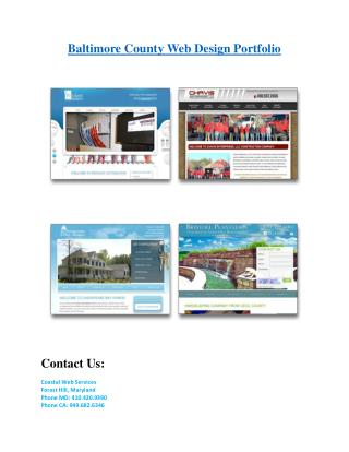 Baltimore county web design portfolious