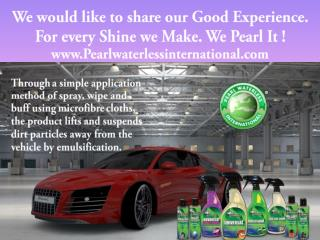 Pearl Waterless Car Wash-For every Shine we Make.We Pearl It