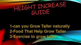 Grow Taller Guide