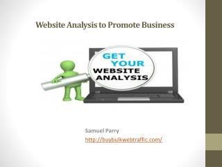 Website Analysis to Promote Business