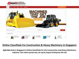 Online Classifieds for construction machinery Singapore