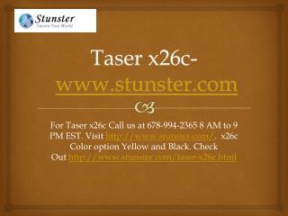 Taser x26c - www.stunster.com