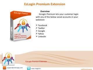 EzLogin Premium Extension - store.velanapps.com