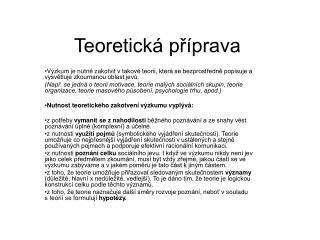 Teoretick  pr prava