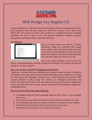 Web Design Los Angeles CA