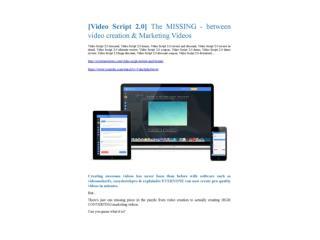 VideoScript 2.0  Review-MEGA $22,400 Bonus & 65% DISCOUNT