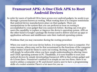 Framaroot APK Free Download