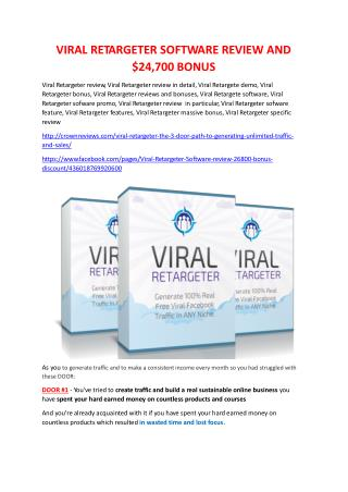 Viral Retargeter Review-(GIANT) bonus & discount