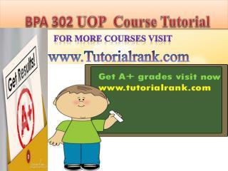 BPA 302 UOP Course Tutorial/TutorialRank