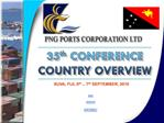 BRIAN RICHES CHIEF EXECUTIVE OFFICER PNG PORTS CORPORATION LTD